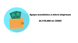 Apoyo económico a microempresas afectadas por covid19 de $10,000 en CDMX