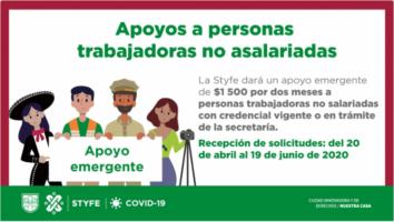 Apoyo económico a Personas no Asalariadas en CDMX