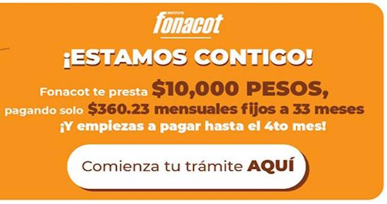 Programa Crédito Apoyo Diez Mil de Fonacot