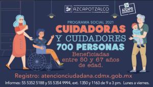 APOYO A CUIDADORAS Y CUIDADORES DE 50 A 67 AÑOS  – AZCAPOTZALCO