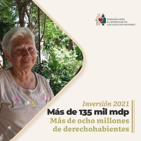 Inversión programa pensión para adultos mayores