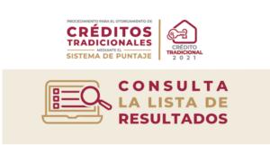 Resultados Créditos Tradicionales FOVISSSTE Mediante Sistema de Puntaje 2021