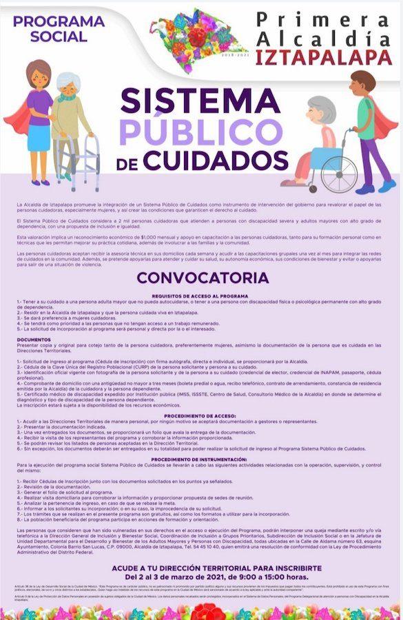 Programa Cuidadores en Iztapalapa 2021º