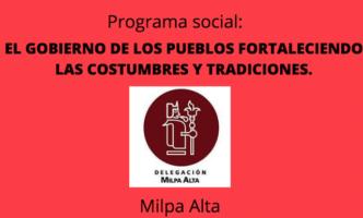 Apoyo Fortaleciendo las costumbres y tradiciones en Milpa Alta