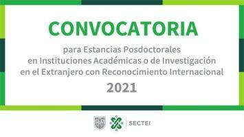Becas para estancias posdoctorales en el extranjero 2021
