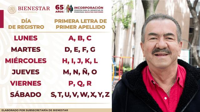 Dia de registro de inscripción al programa adultos mayores en CDMX